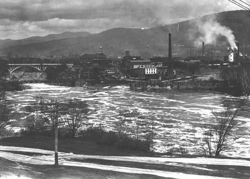 Rumford Falls and mills, 1934
